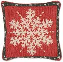 Winter Christmas Snow Flake Pillow
