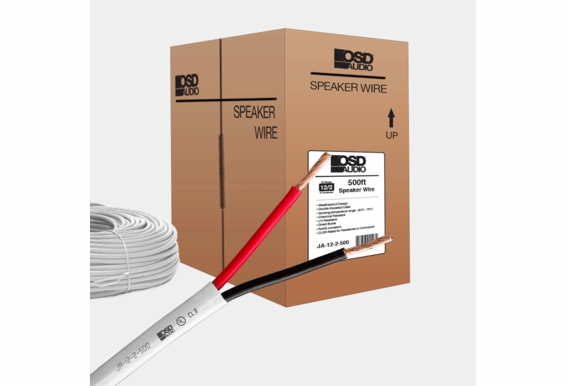 12 Gauge 2-Conductor Oxygen Free Burial Rated In Wall Speaker Cable 500ft CL3