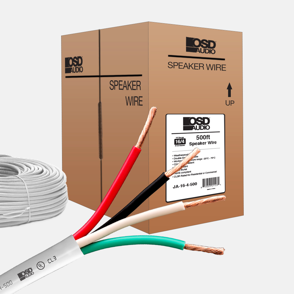 16 Gauge 4-conductor Oxygen Free Burial Rated In Wall Speaker Cable ...