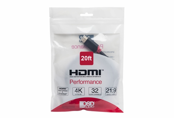 20ft Performance Series High Speed 4K HDMI Cable
