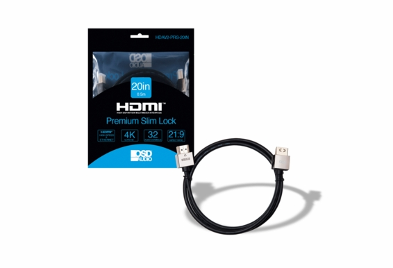 20in Premium Slim High Speed 4K HDMI Cable