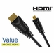 6ft High Speed HDMI® to Micro D HDMI Cable with Ethernet V1.4