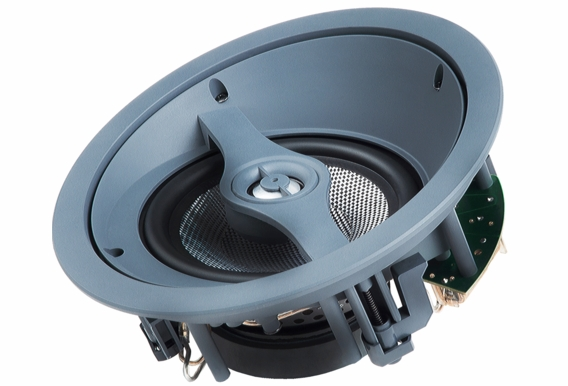 """ACE670  6.5"""" Angled Home Theater Trimless Ceiling Speaker with Kevlar® Woofer Single"""