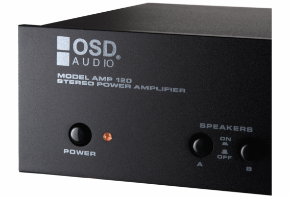 OSD Audio AMP120 High Performance 2-channel Stereo Amplifier with Dual Source Switching, 75W x 2, 160 Watts Bridged Mono Output
