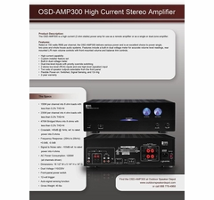 AMP300 High Power Amplifier Information