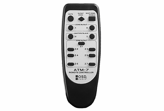 ATM7 Automatic Speaker Selector 7 Zone w/ Remote Control IR Code