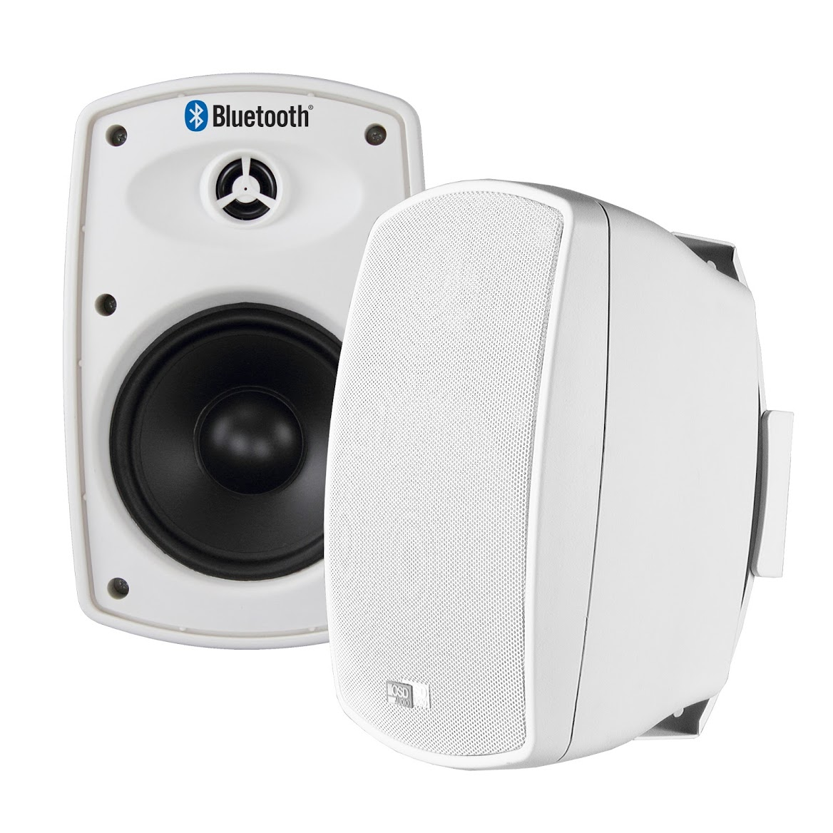 White Weatherproof Outdoor Speaker For Patio With 6 5 Manual Guide