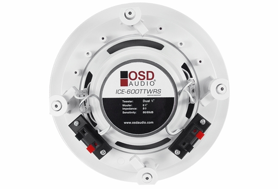 "OSD Audio ICE600TTWRS 6.5"" Dual Tweeter Stereo Ceiling Speaker Weather Proof Single"