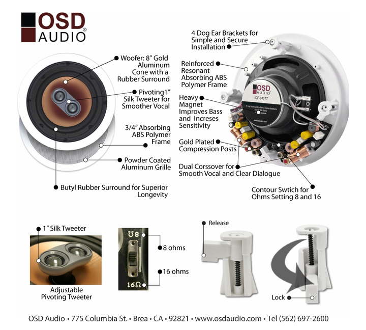 Dual Voice Coil Ceiling Speaker: Premium Custom Installed Ceiling