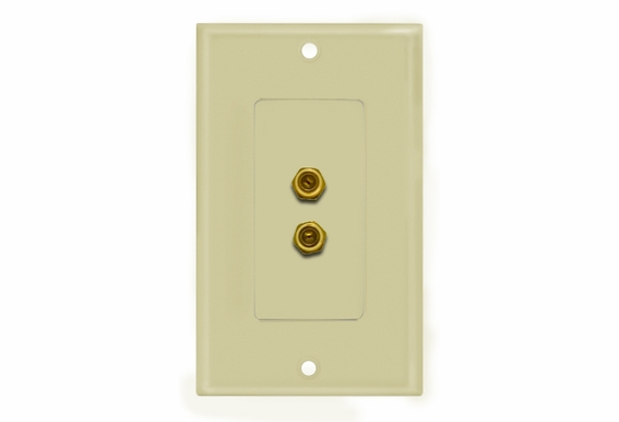 "Double ""F"" Connector Wallplate"
