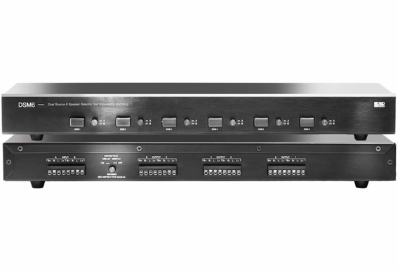 DSM6 Dual Source 6 Zone Speaker Selector High Performance with Amplifier Protection