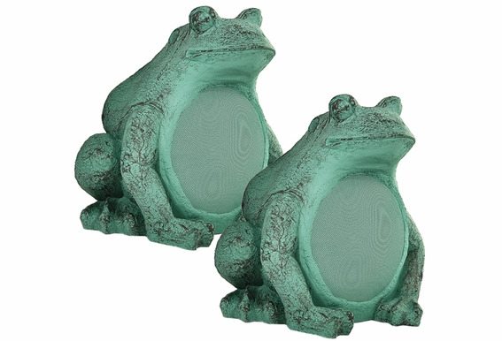 "FS550 Garden Decorative 5.25"" Frog Speaker Pair"