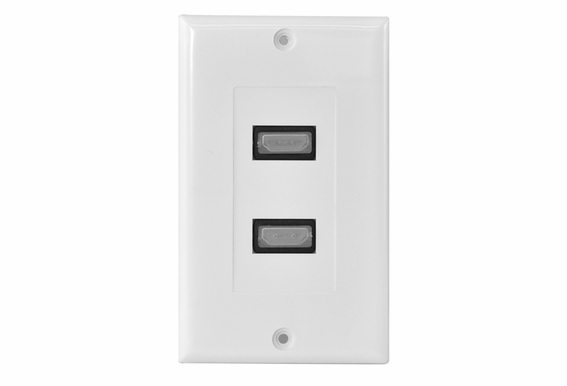 HDMI Wall Plate Dual Port Decora Style
