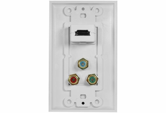 HDMI Wall Plate with Component Video