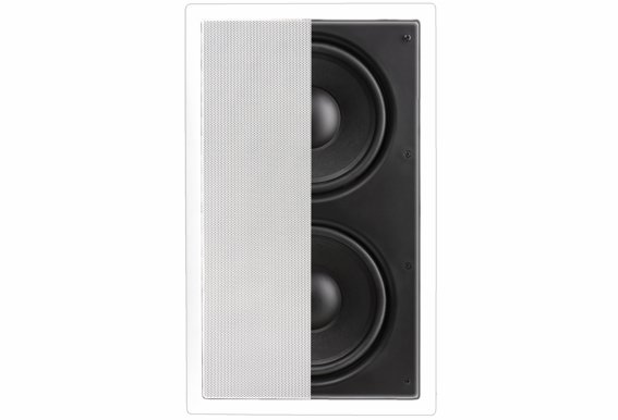 "In Wall Subwoofer Dual 8"" Injected Woofers Back Bridge Plate IWS88 (New Improved Design)"