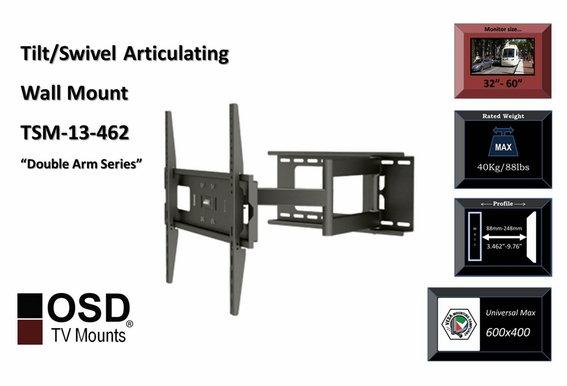 "LED/LCD/Plasma TV Mount 32"" - 70"" OSD TSM-13-462"