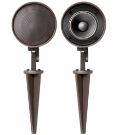 LS2 Landscape In-Ground or Mounted Outdoor Light Dome Shaped Speaker Pair