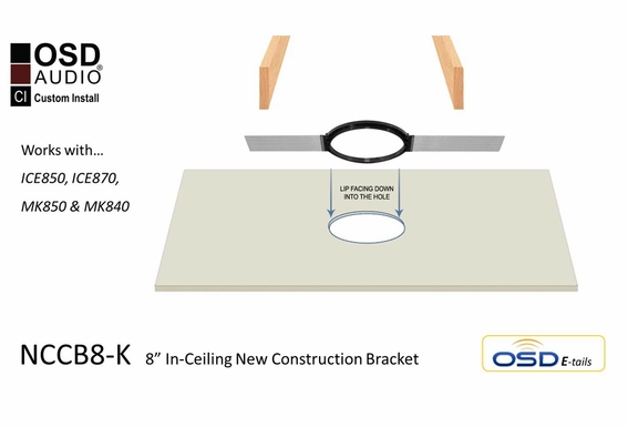 "NCBC8-K New Construction Bracket Pair For 8"" In Ceiling Speaker"