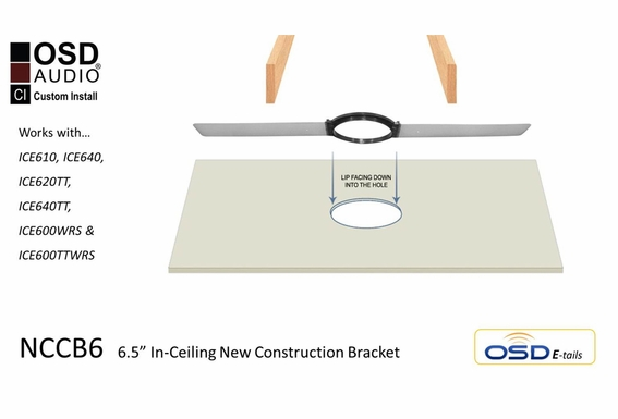 "NCCB6 New Construction Bracket Pair for 6.5"" Ceiling Speakers"