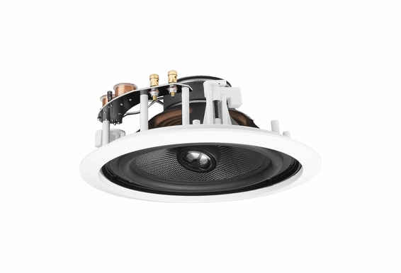 """OSD Audio ICE840 8"""" Fiber Glass Woofer w/Butyl Rubber Surrounds and 1"""" Titanium Tweeter 175W In-Ceiling Loud Speakers Pair White Standard Frame"""