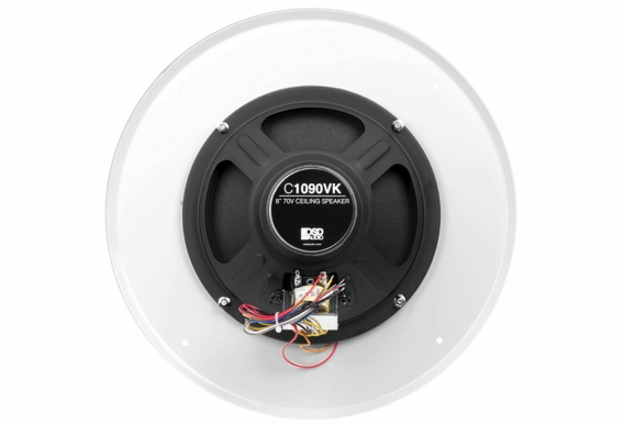 "C1090 8"" Ceiling 70V 25V Speaker with Front Volume Control 12"" Grill"