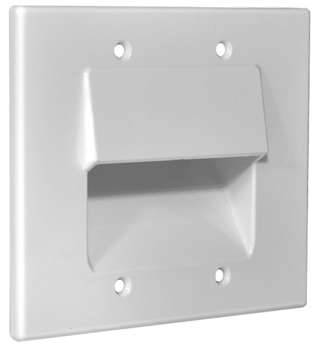 Osd Double Gang Pass Through Bundle Wall Plate