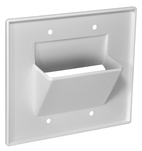 Low Voltage Cable Wall Pass Through Plates : Osd double gang pass through bundle wall plate