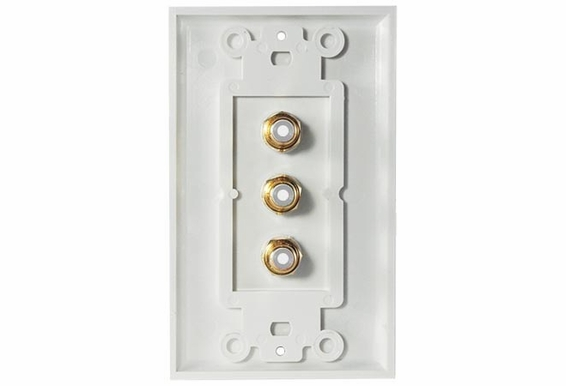 OSD-WP-AV Audio/Video 3 RCA Decora Style Wall Plate