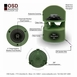 "OS850 High Definition Omni 8"" Two-Way Outdoor Ground Speaker Optional 70V"