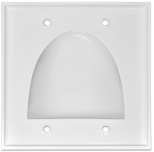 Wall Plate Cable Pass Through : Pass through bundle cable wall plate dual gang