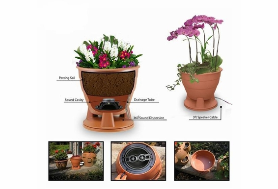 "PS525 Single Stereo 5.25"" Planter 2-Way Omni Speaker Omni"
