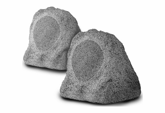 "RS670-JR Rock Speaker 6.5"" White Granite Color Pair"