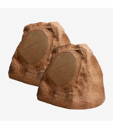 "RS670 Outdoor High Power 6.5"" Rock Speaker Pair Brown Grey Slate Color"