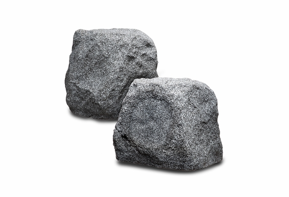 "RX550 5.25"" Outdoor Rock Speaker 100W Pair Brown Granite Slate Color"