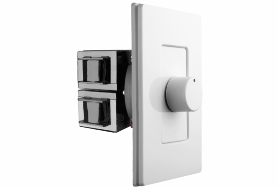 OSD Screwless Rotary Knob Volume Control 300W High Power Impedance Matching SLK300 Decra Style Wall Plate Snap On