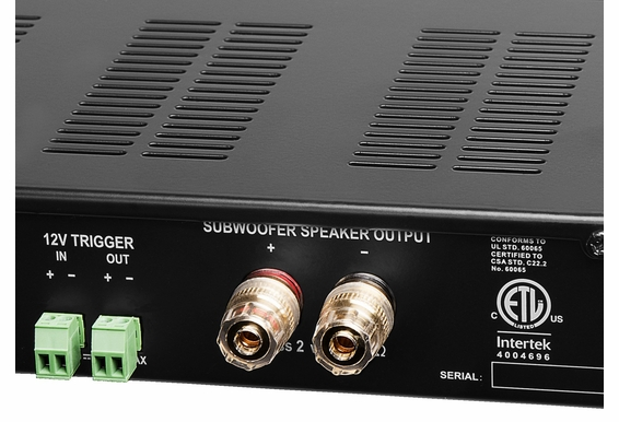 SMP500DSP High Power Subwoofer Amplifier 400W RMS/1000W Peak 4 Ohm Stable W/ Remote Control