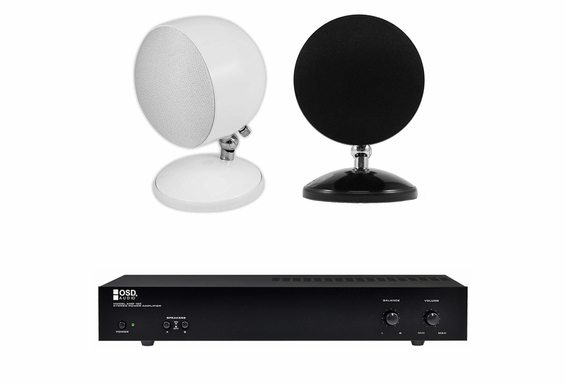 Sphere Speaker Bundle w/ Stereo Dual Zone Amplifier AMP120