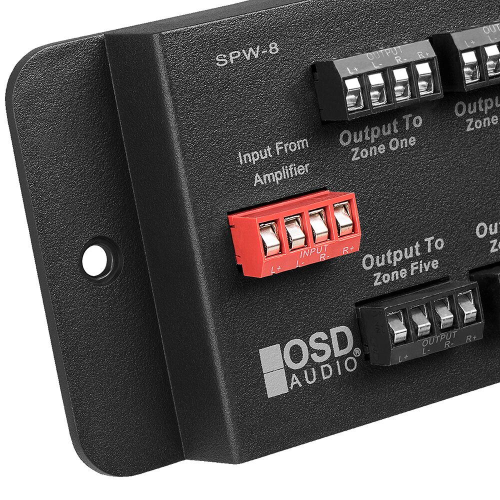Spw 8 Eight Zone Speaker Distribution Panel