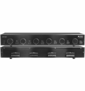ssvc6 6x pair speaker selector 300w volume control dual source 9 2 channel stereo amplifier osd amp300 multi zone  at bayanpartner.co