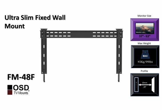 "TV Wall Mount for LCD/LED/Plasma 37""- 70"" OSD FM-48F"
