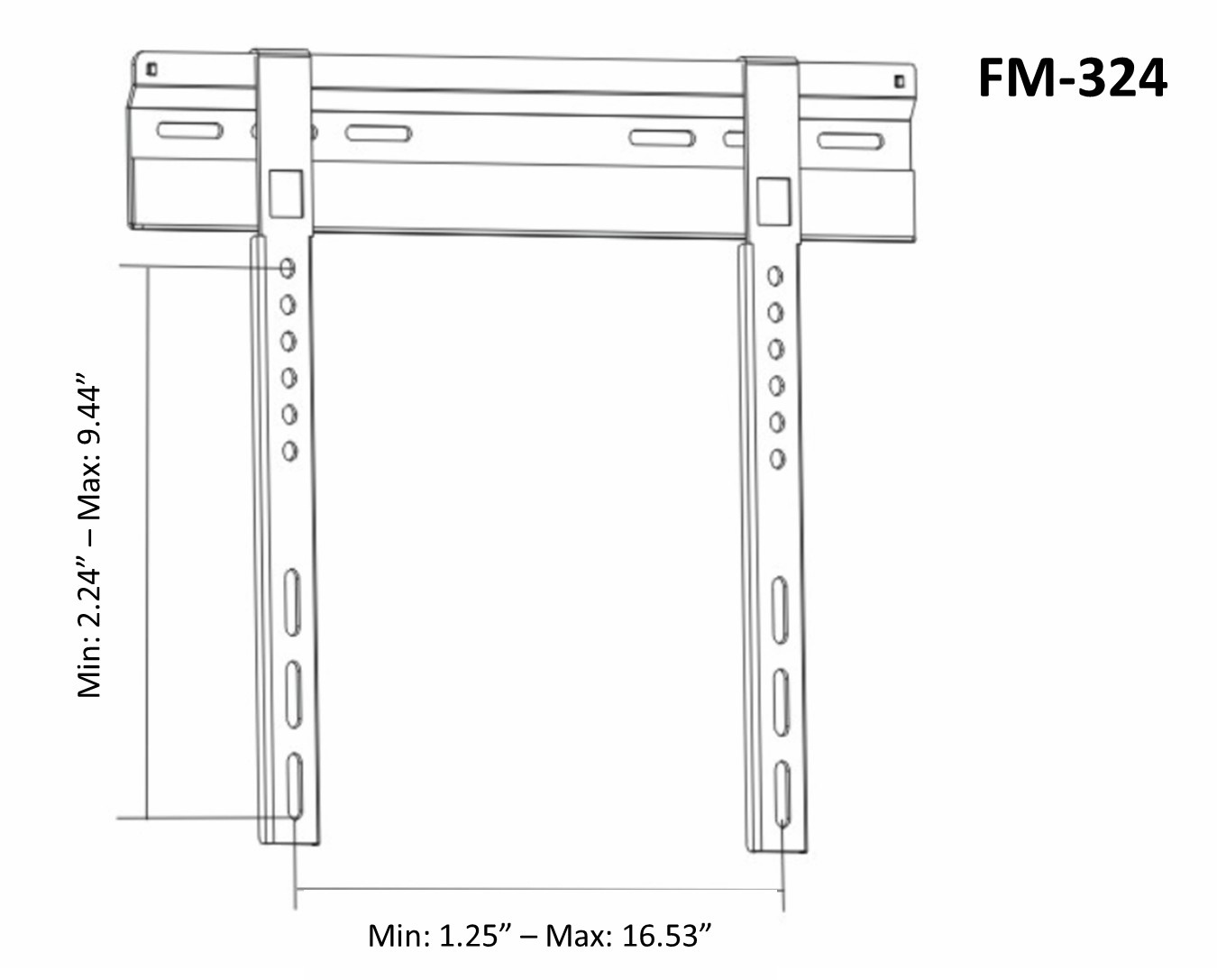 Tv Wall Mount For Plasma Lcd Fixed Flat 23 42 Osd Fm 324 Wiring Diagram