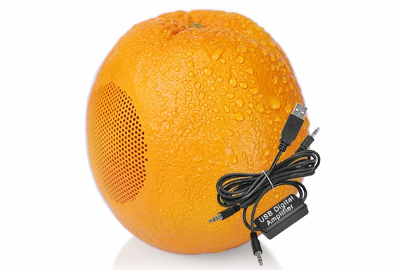 USB Computer Speakers - Orange