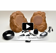 "Wireless Outdoor 8"" Rock Speaker WR800"