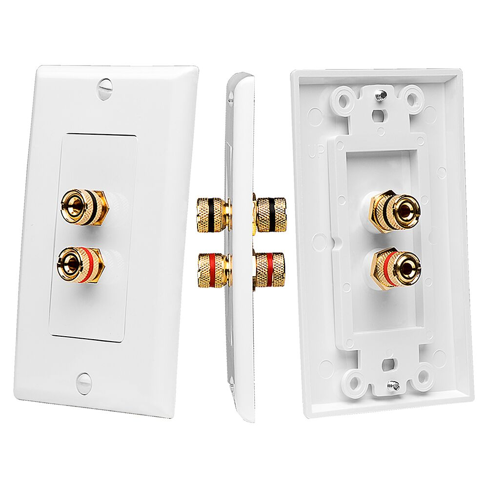 wp2 terminal speaker decora binding post wall plate