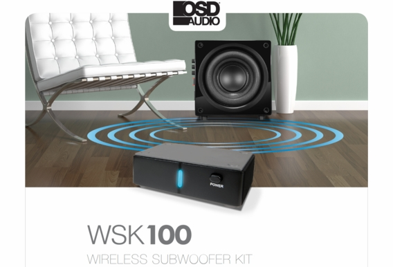 OSD Audio WSK-100 2.4G Wireless Subwoofer Transmitter and Receiver Kit