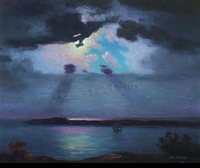 BRAUNER:  NOCTURNAL SEASCAPE</a><br><b>- SOLD</b>
