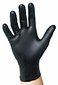 4 Mil Black Nitrile Powder Free Gloves