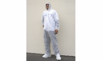 COVERALL W / ATTACHED HOOD & BOOTS