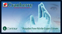 Cranberry Contour Powder-Free Nitrile Exam Gloves