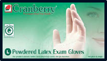Cranberry Original Lightly-Powdered Latex Exam Gloves